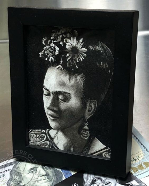 Watercolor Painting of Frida Kahlo by Mikey
