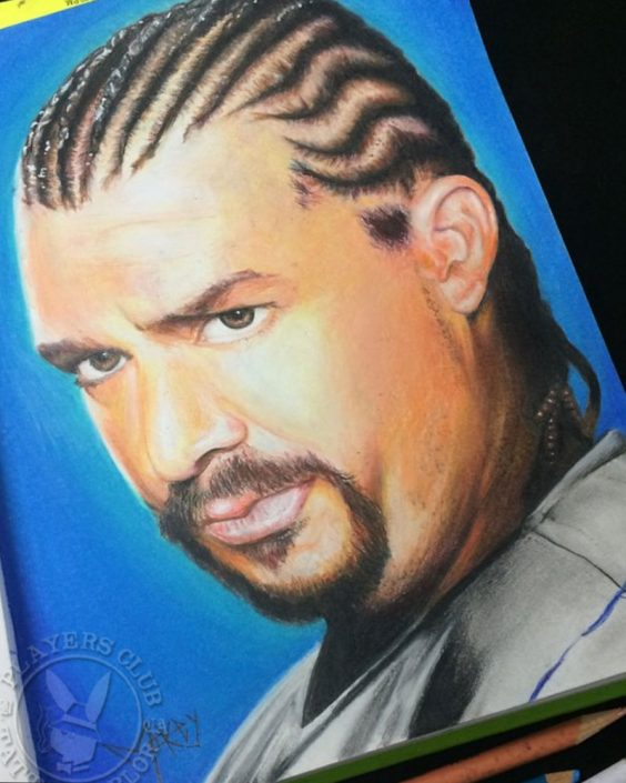Color Pencil Drawing of Kenny Powers by Mikey Baltierra