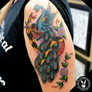 Sailor Jerry American Traditional Peacock